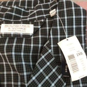 Men's Roundtree & Yorke Big Man Pajama Top New